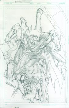 Neal Adams variant cover pencils to Batman #49