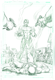 Neal Adams variant cover pencils to Cyborg #8