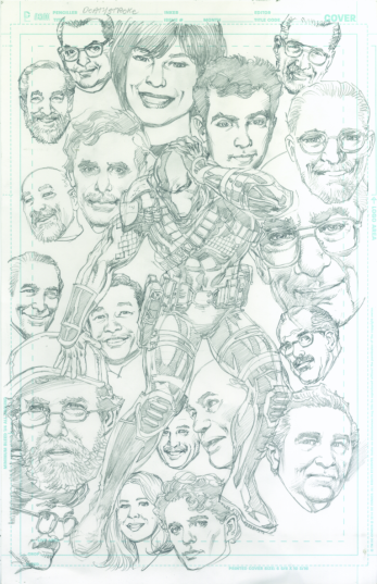 Neal Adams variant cover pencils to Deathstroke #15