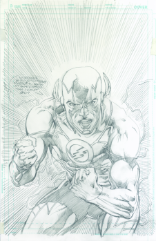 Neal Adams variant cover pencils to Flash #49