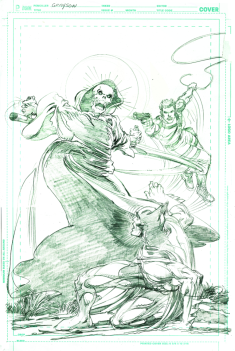 Neal Adams variant cover pencils to Grayson #17