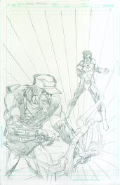 Neal Adams variant cover pencils to Green Arrow #49
