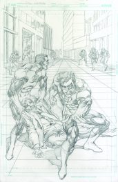 Neal Adams variant cover pencils to Green Lantern #49