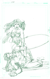 Neal Adams variant cover pencils to Justice League #48