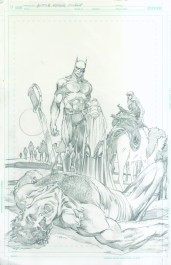Neal Adams variant cover pencils to Justice League of America #8