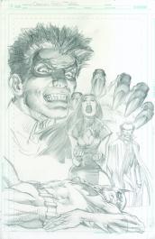 Neal Adams variant cover pencils to Robin Son of Batman #9