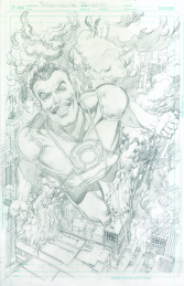 Neal Adams variant cover pencils to Sinestro #20