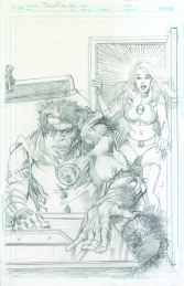 Neal Adams variant cover pencils to Starfire #9