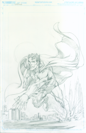 Neal Adams variant cover pencils to Superman #49