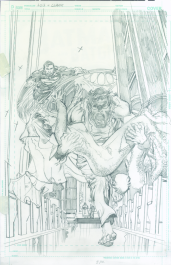 Neal Adams variant cover pencils to Superman Lois and Clark #5