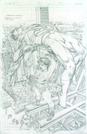Neal Adams variant cover pencils to Superman Wonder Woman #26