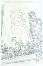 Neal Adams variant cover pencils to Teen Titans #17