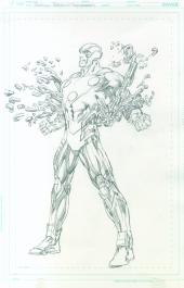 Neal Adams variant cover pencils to Telos #5