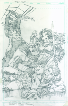 Neal Adams variant cover pencils to Titans Hunt #5