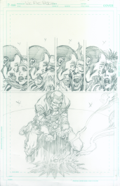 Neal Adams variant cover pencils to We Are Robin #9