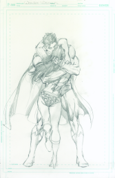 Neal Adams variant cover pencils to Wonder Woman #49